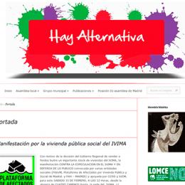 Presentación de la web de Izquierda Unida de Algete