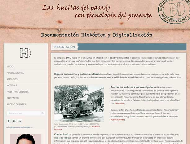 web de Documentación Histórica y Digitalización